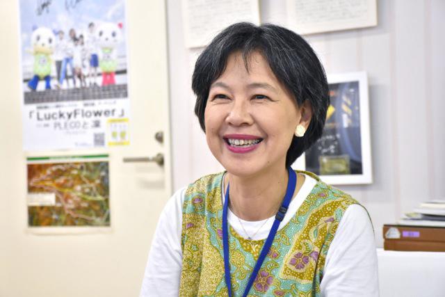 区長室で、野本紀子区長